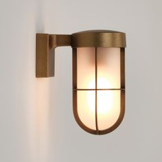 Astro Lighting 7850 Cabin Exterior Frosted Glass Wall Light in Antique Brass Cabin Lighting, Outdoor Wall Lighting, Glass Cabin, Modern Light Fittings, Outdoor Walls, Wall Lamp, Steel Wall, Glass Wall Lights, Glass Wall