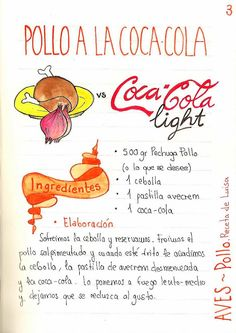 Gastro Andalusi: Pollo a la coca-cola fácil con cus-cus. Yeah for Spanish… Pollo Chicken, Honey Garlic Chicken, Food Journal, Latin Food, Spanish Food, E 10, Savoury Dishes, Food Illustrations, Kitchen Recipes