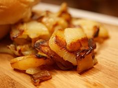 Perfect Fried Potatoes and Onions | A Pinch of Adventure Country Fried Potatoes, Best Fried Potatoes, Sliced Potatoes, Grilled Cabbage Recipes, Onion Recipes, Potato Recipes, Perfect Fry, Potato Onion, Cooking Spoon