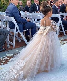 Princess Jewel Long Sleeves Sweep Train Lace Tulle Flower Girl Dresses with Bowk. Princess Jewel Long Sleeves Sweep Train Lace Tulle Flower Girl Dresses with Bowknot Pretty Wedding Dresses, Wedding Dress Trends, Bridal Dresses, Wedding Gowns, Prom Dresses, Elegant Dresses, Sexy Dresses, Summer Dresses, Formal Dresses