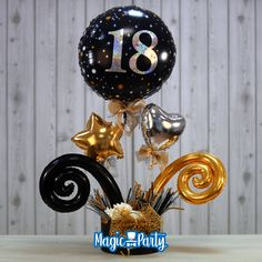 Cowboy Party Centerpiece, Graduation Centerpiece, Centerpiece Ideas, Balloon Arrangements, Balloon Centerpieces, Balloon Display, Balloon Garland, Birthday Balloon Decorations, Birthday Balloons
