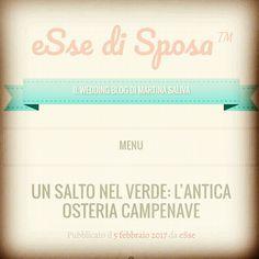 Per il vostro giorno la location Antica Osteria Campenave 🌲💍💐  https://essedisposa.com/2017/02/05/un-salto-nel-verde-lantica-osteria-campenave/