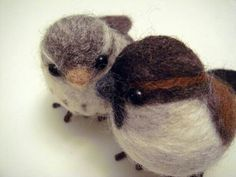Needle felting - birds