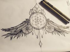 Image result for dream catcher under breast tattoo