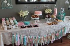 Unique and Chic Creations: Vintage Shabby Chic Birthday Party - LOVE these ideas