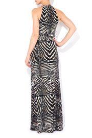 Black And White Zebra Print Maxi Dress