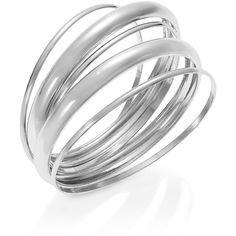 Alfani Bracelet, Silver-Tone Link Ring Bangle Bracelet ($14) ❤ liked on Polyvore featuring jewelry, bracelets, accessories, rings, hinged bangle, polish jewelry, alfani, bangle jewelry and bracelets bangle