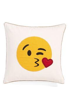 This emoji pillow from @nordstrom  is too cute.