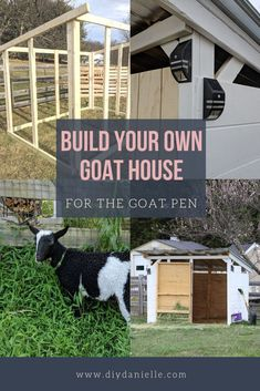 How to build a DIY Goat House. This simple goat shed is perfect for your small herd of goats. What a great idea for your goat pen! Goat Shelter, Horse Shelter, Animal Shelter, Sheep Shelter, Shelter Dogs, Letters Ideas, Bucky, Goat Shed, Small Goat