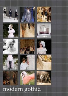 today we've been preparing mood boards #moderngothic #gothic #chic #chanel #inspired #tartan #aliceinwonderland