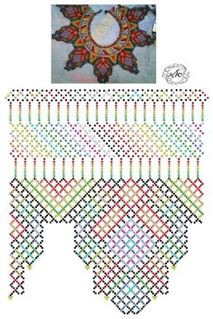 Foto Natali Khovalko Diy Necklace Patterns, Jewelry Patterns, Beading Patterns, Bead Jewellery, Seed Bead Jewelry, Beaded Jewelry, Free Beading Tutorials, Fabric Origami, Seed Bead Necklace