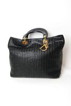 Handbag Lust! > Christian Dior Black Woven Leather Bag