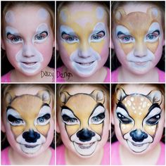 Daizy Design Face Painting #stepbystepfacepainting