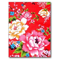 Vintage Chinese Floral Post Cards