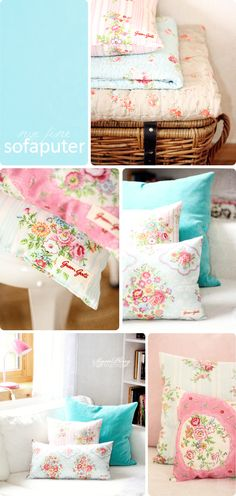 Greengate pillows made from kitchen towels. Beautiful, but of course not very cheap in the end.