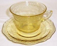 Federal Amber Depression Glass PATRICIAN SPOKE by StraitsAntiques, $18.00
