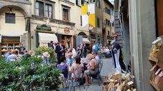 the city center: piazza della repubblica. Always a wedding to catch in Cortona at summer