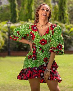 Latest Ankara Short dress Styles to add to your wardrobe – BeeInspired Modern African Print Dresses, Short African Dresses, Ankara Short Gown Styles, Short Gowns, African Fashion Ankara, Latest African Fashion Dresses, African Print Fashion, Africa Fashion, African Prints