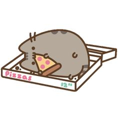Hungry Cat Sticker by Pusheen for iOS & Android Kawaii Plush, Kawaii Cat, Pusheen Stickers, Pusheen Love, My Little Pony Twilight, Cute Kawaii Animals, Pizza Cat, Cute Kawaii Drawings, Kawaii Illustration