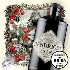 Gin Hendrick's v Cafe Bulldog - Geniální chuť ginu kterou můžete ochutnat. Whisky, Bottle, Flask, Whiskey, Jars