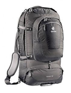 Grey traveling backpack.
