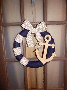 Anchor Wreath by SheandIDIY on Etsy
