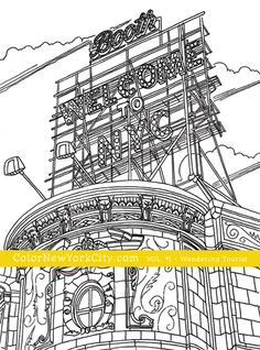 The Booth Theater, New York City.  From the coloring book:  Color New York City - Volume #1 - Wandering Tourist Available now at Amazon: http://amzn.com/1517559111