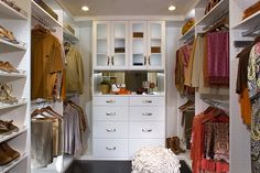 Modern White Walk in Closet - modern - closet - los angeles - Kay Wade, Closet Factory, VP-Head Designer Diy Custom Closet, Custom Closet Design, Walk In Closet Design, Custom Closets, Closet Designs, Diy Walk In Closet, Closet Redo, Closet Remodel, Walking Closet