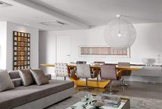 Sala de Jantar #living #interiordesign #apartamentodecorado #decoração - Projeto: Santos & Santos Arquitetura