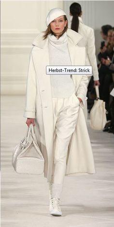 Ein Traum in weiß!#Wollmantel und #Strickpullover! #Strick