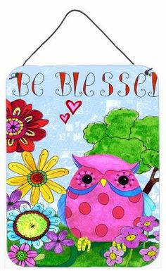 Be Blessed Owl Wall or Door Hanging Prints PJC1026DS1216, Multi