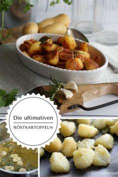 Die ultimativen Röstkartoffeln - außen superknusprig und würzig, innen cremig. Durch einen tollen Trick!