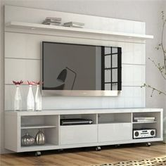 Shop a great selection of Manhattan Comfort Cabrini TV Stand Floating Wall TV Panel LED Lights White Gloss. Find new offer and Similar products for Manhattan Comfort Cabrini TV Stand Floating Wall TV Panel LED Lights White Gloss. Tv Stand And Panel, Tv Panel, Contemporary Entertainment Center, Living Room Entertainment Center, Entertainment Units, Tv Unit Design, Tv Wall Design, Tv Stands, Muebles Rack Tv