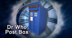 Post Box for Weddings, Parties, Ceremony and Corporate Events - Police Box - Dr Who - Tardis by EtchnSketchDesigns on Etsy