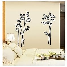 Picture Sensations Canvas Texture Wall Mural Bamboo Tree Self - How to make vinyl decals stick to textured walls