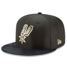 78dd59a1f30 San Antonio Spurs New Era NBA On-Court 59FIFTY Fitted Hat - Black Gold