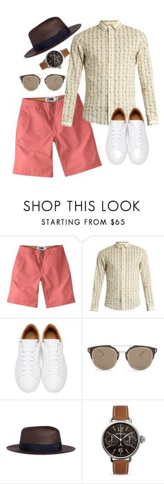 """""""Chino Shorts: Look 4"""" by duesouthstyle on Polyvore featuring Mountain Khakis, Gucci, Marc Jacobs, Dior Homme, Lardini, Bell & Ross, men's fashion and menswear"""