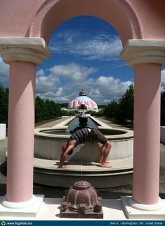 #Yoga Poses Around the World: Full Wheel Pose taken in Birmingham, VA, United States by Ben A.