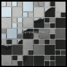 mosaique en inox noir mat et miroir crédence cuisine oken