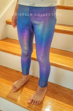 3e99289ee Unicorn Leggings Girls Little Mermaid Toddler Baby Kids Iridescent Pants  Legging Birthday Party Outfit Gift Costume Lover READY TO SHIP