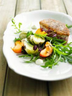 Artisjoksalade met tonijn http://njam.tv/recepten/artisjoksalade-met-tonijn