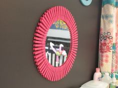 Clothespin starburst mirror