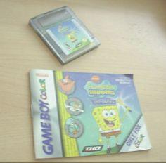 Gameboy Games, Color Games, Game Boy, Spongebob Squarepants, Manual, Lost, Ebay, Color Puns, Textbook