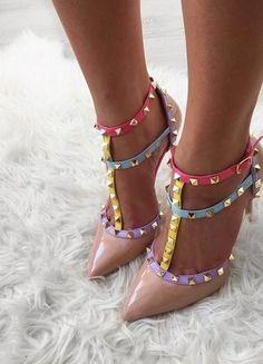 Kup mój przedmiot na #vintedpl http://www.vinted.pl/damskie-obuwie/na-wysokim-obcasie/18789522-szpilki-sandaly-letnie-z-cwiekami-pastelowe-nude