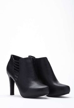 Forever 21   Cutout Ankle Boots (Wide) #forever21 #ankleboots