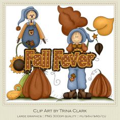 Fall Fever 1 Clip Art Graphics by Trina Clark by marlodeedesigns, $1.35