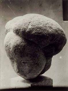 Constantin Brancusi Danaïde, Sandstone of c. 1921 vintage silver print 9 x 6 in. Portrait Sculpture, Sculpture Head, Stone Sculpture, Modern Sculpture, Abstract Sculpture, Rodin, Brancusi Sculpture, Modern Art, Contemporary Art