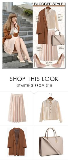 """""""Blogger Style"""" by selangel ❤ liked on Polyvore featuring Zara and H&M"""