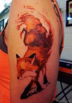 Fox Tattoo Design On Shoulder-TB12078