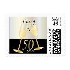 Cheers to our 50th Golden Wedding Anniversary Postage
